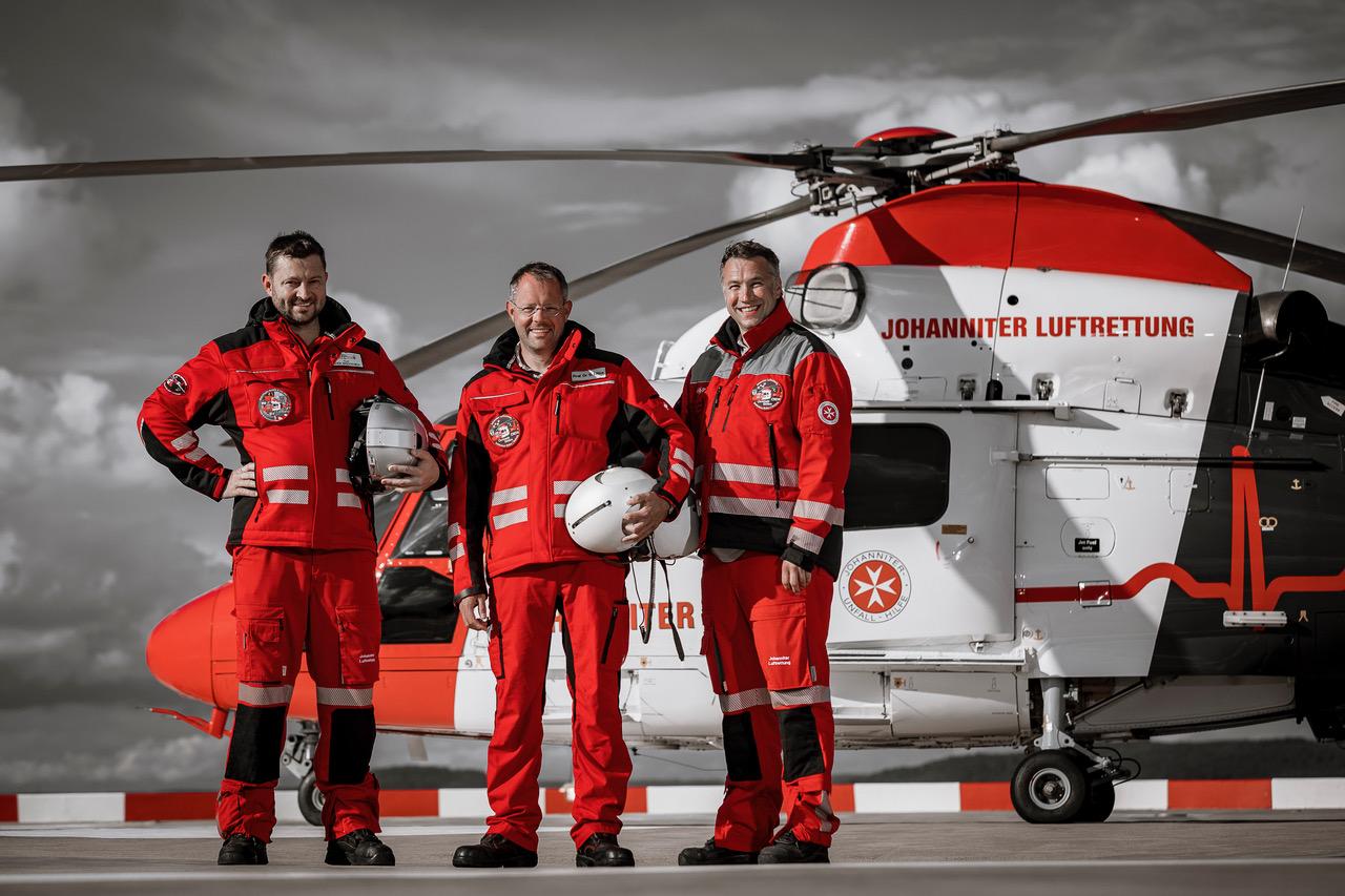 Helikopter Christoph Gießen und seine Besatzung. (Bild: UKGM)